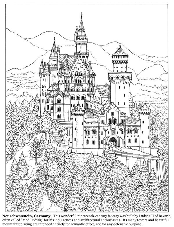 castle Coloring pages first edition