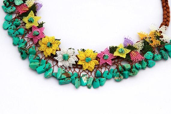 Turkish Needle Lace Necklace