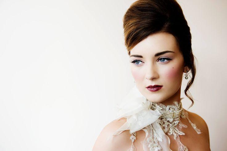 #bridalcouture shoot #MakeupbyTinaBrocklebank using Bobbi Brown www.tinabrocklebank.co.uk #RedCherry #falseeyelashes and Illamasqua. #JoannaLeighcouture - dress. Model - #SianaHemmings. Photo - #TracyConwaySmith. Flowers - #TheWeddingandFlower boutique. Hair - #ClaireSnowden