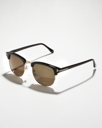 Henry Sunglasses, Rose Gold/Black by Tom Ford