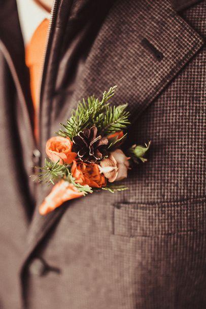 Winter wedding. Groom style