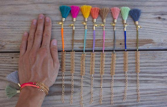 OOAK fishbone belle chaîne bracelet en couleurs par BonkIbiza