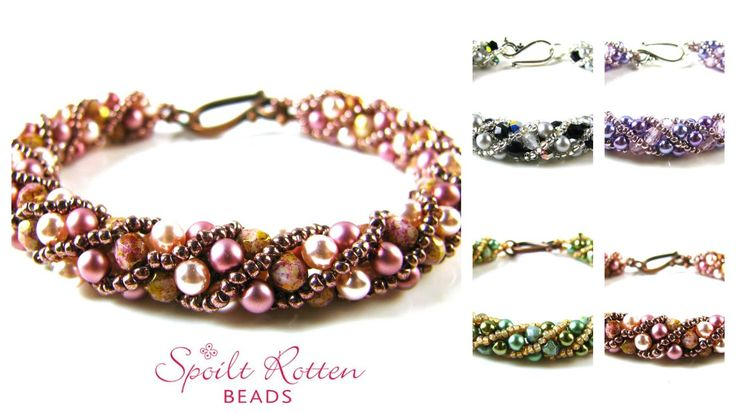 Russian Spiral #Seed #Bead #Tutorials  I can try this pattern for earrings!