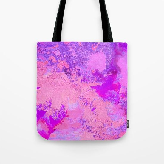 Buy Pink Crackle Tote Bag by Jazzyinked at Society6