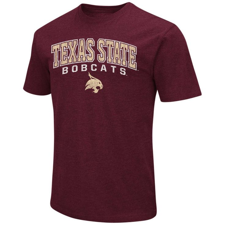Texas State Bobcats Colosseum Distressed Arch Over Logo T-Shirt - Maroon