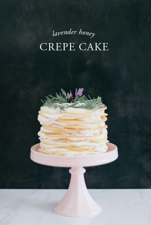 House That Lars Built | No sugar lavender honey crepe cake