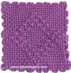 punto rombo calado en telar cuadrado - square loom stitch