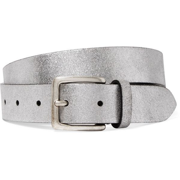Anderson's Metallic textured-leather belt ($105) ❤ liked on Polyvore featuring accessories, belts, knot belt, metallic belts, slimming belt and sparkly belt