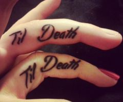 http://tattoomagz.com/romantic-couples-tattoo/till-death-couples-tattoo/