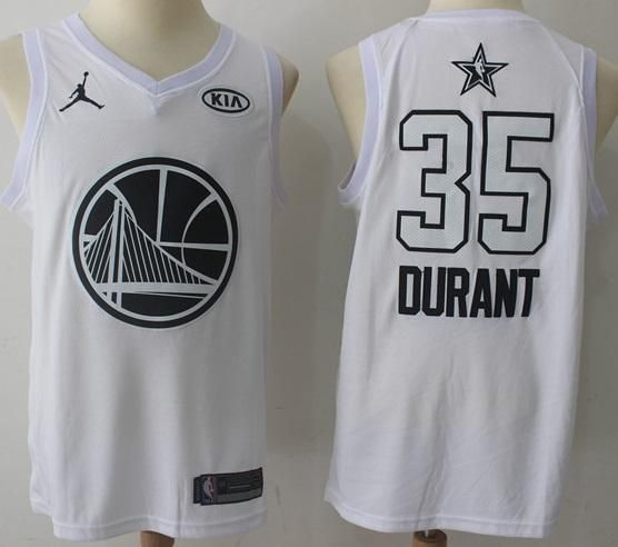 a3ebda3176d Men s 2018 All Star  35 Kevin Durant Jersey White Golden State Warriors  Fanatics