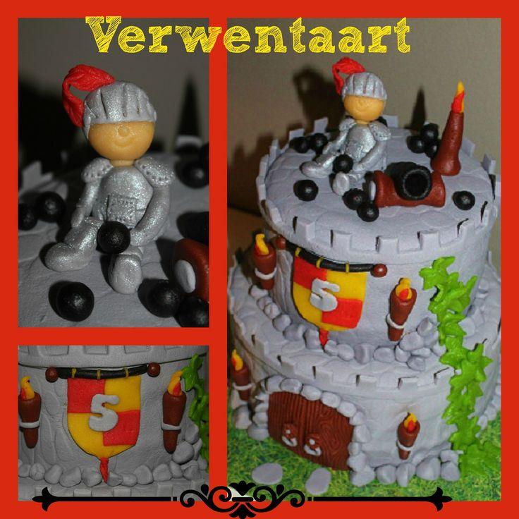 Riddertaart, knight cake www.verwentaart.nl