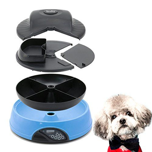 Features: 1.12 or 24-hour time system display (24-hour time system is defaulted) 2.6 seconds personal voice message recorderrepeat play 3 times 3.Personal voice message calls your pet at its feeding...