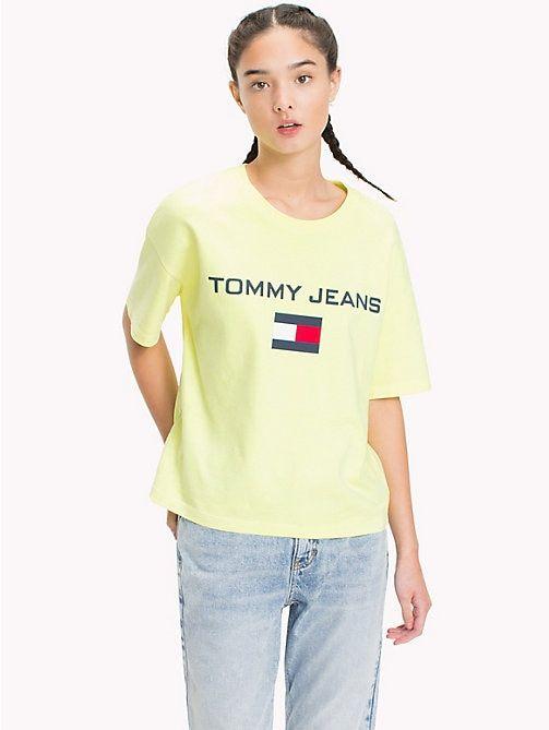 a70d52fc1 TOMMY JEANS 90s Logo Crew-Neck T-Shirt - SAFETY YELLOW - TOMMY JEANS TOMMY  JEANS Capsule - main image