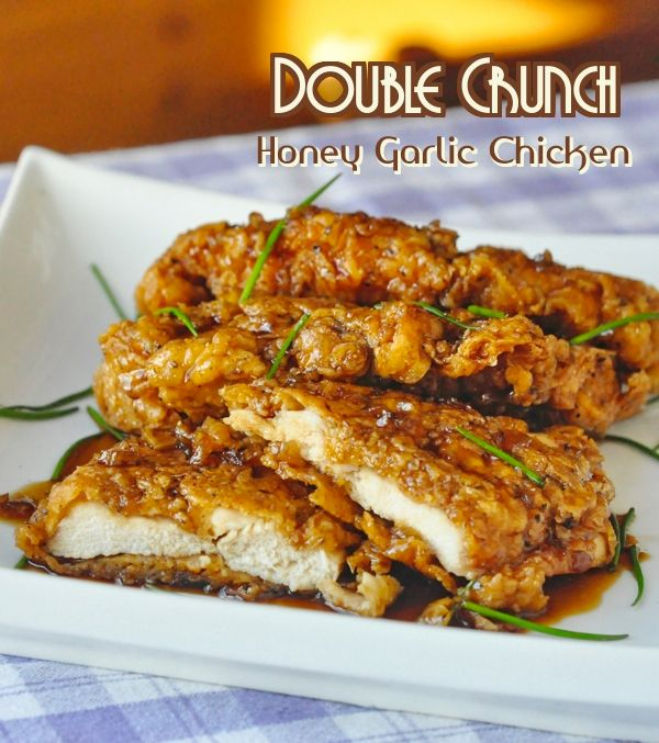 Double Crunch Honey Garlic Chicken Breasts - 248,000 repins can't be wrong.