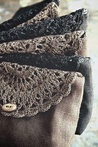linen makeup bags