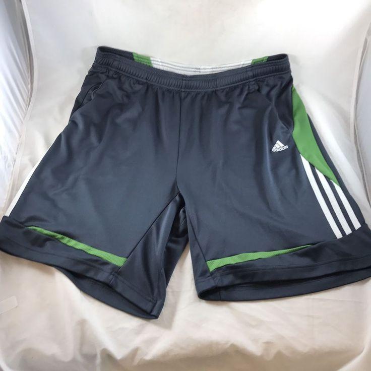 Adidas Climacool Tennis Shorts Mens XL Gray Green 100% Polyester Pro Sports Gear    eBay