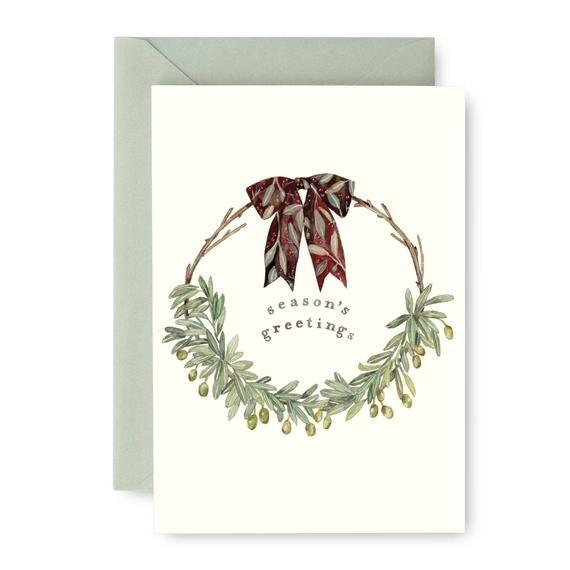 Custom Hand Lettered Seasons Greetings Cards Custom Hand Lettered Christmas Greeting Cards