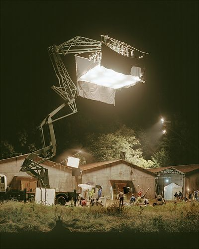 Movie Sets, by Simon Norfolk This structure has a life on its own. Makes me feel like Joan running in part III