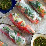 Spiralized Vegetable Spring Rolls {with Thai-Style Dipping Sauce}