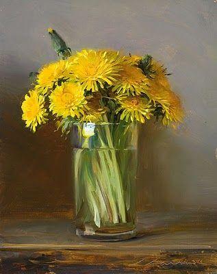Jeffrey T. Larson 'Mother's Bouquet': Vase, Flowers Bouquets, Life, Mothers Bouquets, My Boys, Art Flowers, Larson Mothers, Jeffrey Larson, Dandelions Paintings