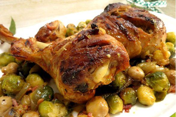 Receita de Perna de Peru no Tacho com couve-flor - http://www.receitasja.com/receita-de-perna-de-peru-no-tacho-com-couve-flor/