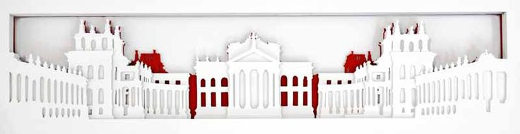 Junction Art Gallery - Kate Hipkiss 'Blenheim Palace' layered papercut