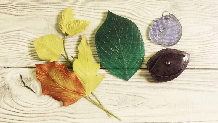 Как сделать красивые листья для цветов из фоамирана при помощи разных мо...