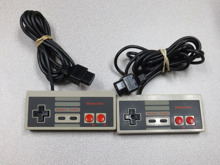 (2x) Genuine Original Nintendo NES Controllers