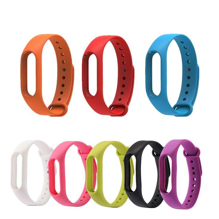 Ganti tali silikon untuk xiaomi mi band 2 versi kebugaran tracker untuk mi band 2 pintar gelang 9 warna