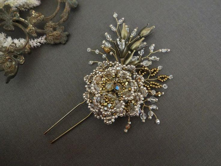 Flowerhair pinfor bride #wedding #weddingjewelry #weddingheadpiece #weddinghairpin #weddingaccessories #bridal #bridaljewelry #bridalaccessories #bridalheadpiece#swarovski#rusticweddig #rustic #vintage #vintagewedding #vintageweddingjewelry #boho #bohowedding #flowerjewelry #hairpin #weddingcrown #pin #handmade #handmadejewels #antiquestyle #antiquestylejewellery #diy #hairaccessories #bridalhairpin