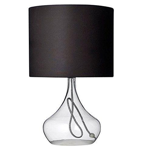 Bloomingville Tischlampe, Glas mit schwarzer Blende (Ø 30 x 51,5cm)