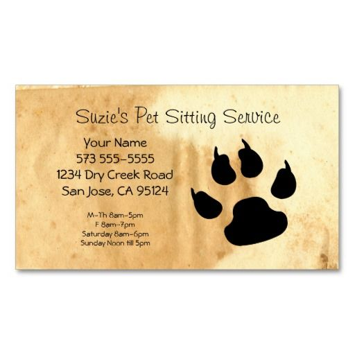 1000 images about Pet Sitting Business Cards on Pinterest