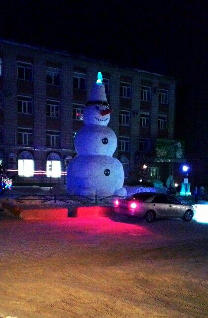 Сибирский снеговик