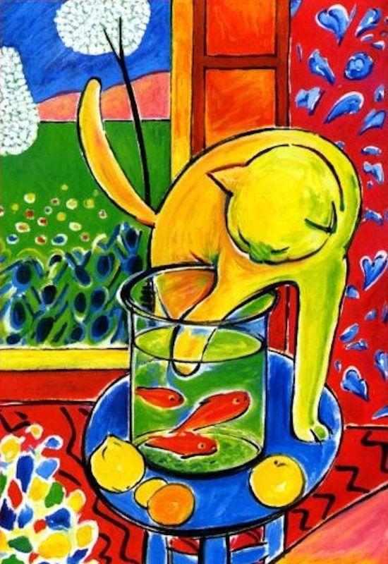 Le chat aux poissons rouges - Henri Matisse