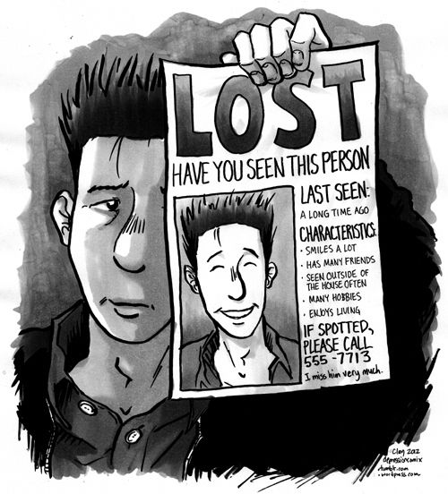Not being able to recognize yourself.   21 Comics That Capture The Frustrations Of Depression