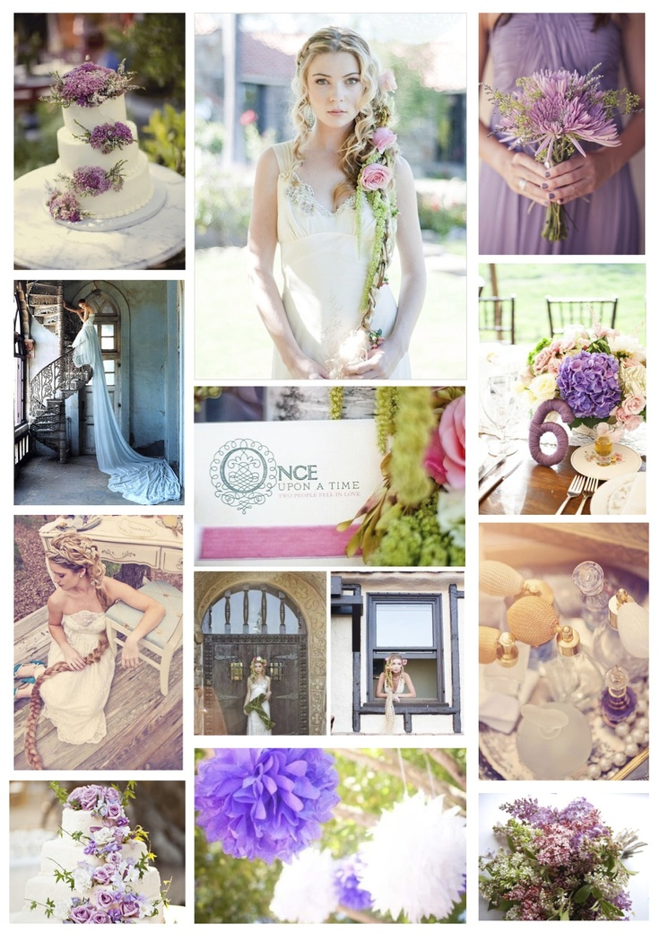 A rapunzel wedding theme: lilac, yellow and peach. Created by Jessie Thomson Weddings & Events: www.jessiethomson...