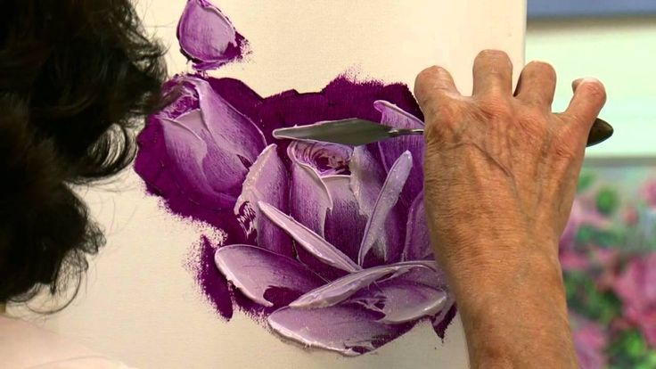 How To Paint a Rose in Oil - Fun and easy, technique to paint a rose with a palette knife in 3 Easy Steps.