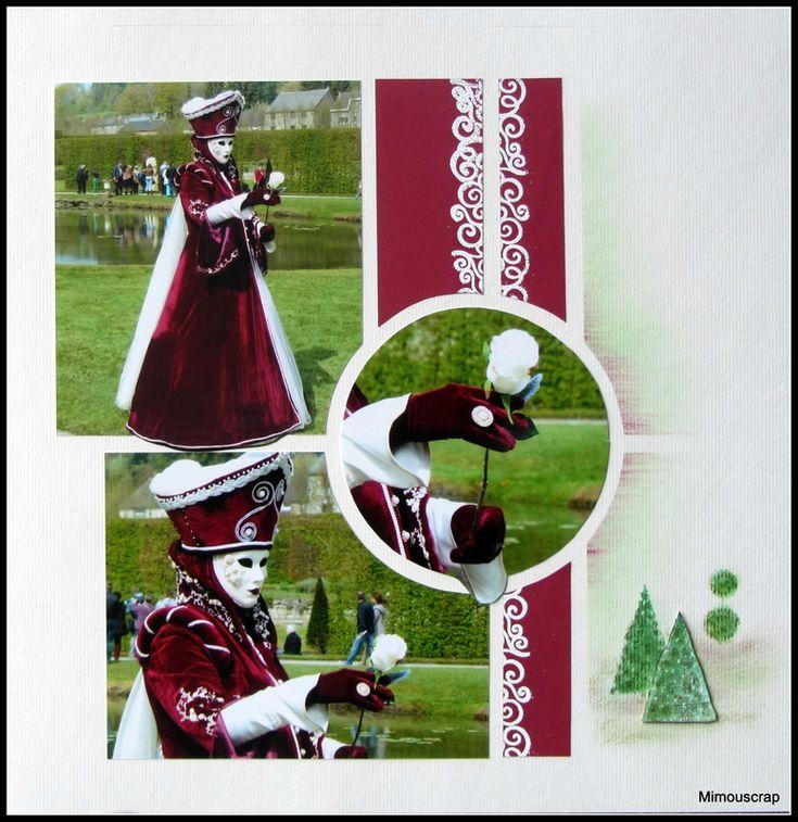 Annevoie et ses costumés vénitiens - Belle dame à la rose