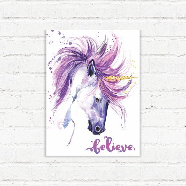 Placa Decorativa Believe