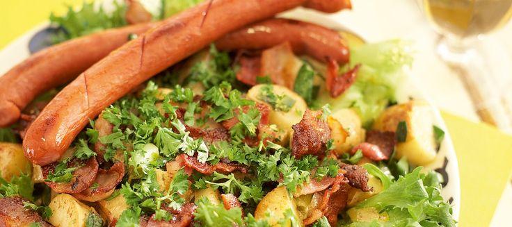 Lämmin pekoni-perunasalaatti | Pääruoat | Reseptit – K-Ruoka