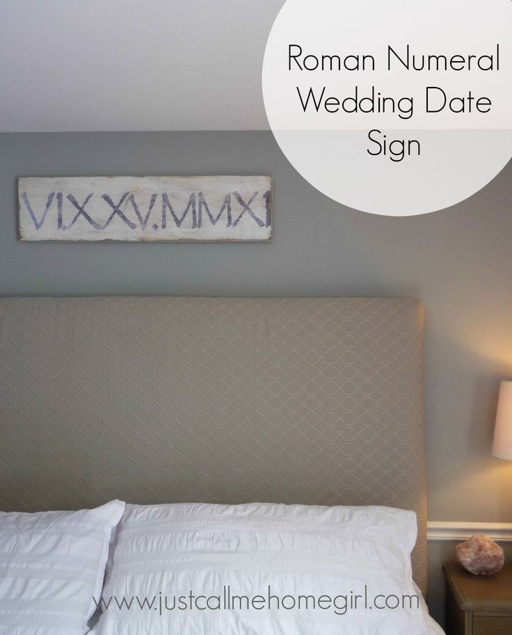 Wedding Date as Roman Numerals!! So cute! Could use kids birthdays as well!