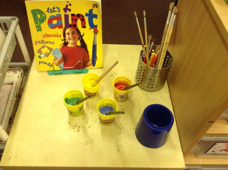Mixing paint!