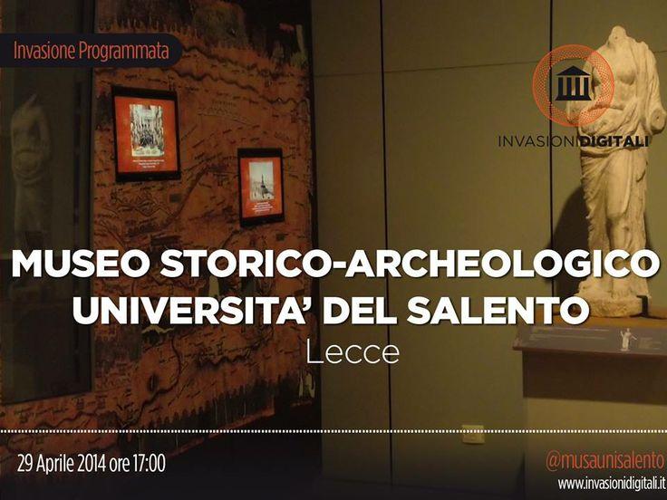 #InvasioniDigitali: Martedì 29 Aprile 2014 alle ore 17 si invade il Museo Storico-Archeologico dell'Università del Salento.  INFO: http://www.invasionidigitali.it/it/invasionedigitale/ritornano-le-invasioni-digitali-al-musa#.U15SOq1_sQ4O  Hashtag: #InvasioniDigitali #invadiLecce