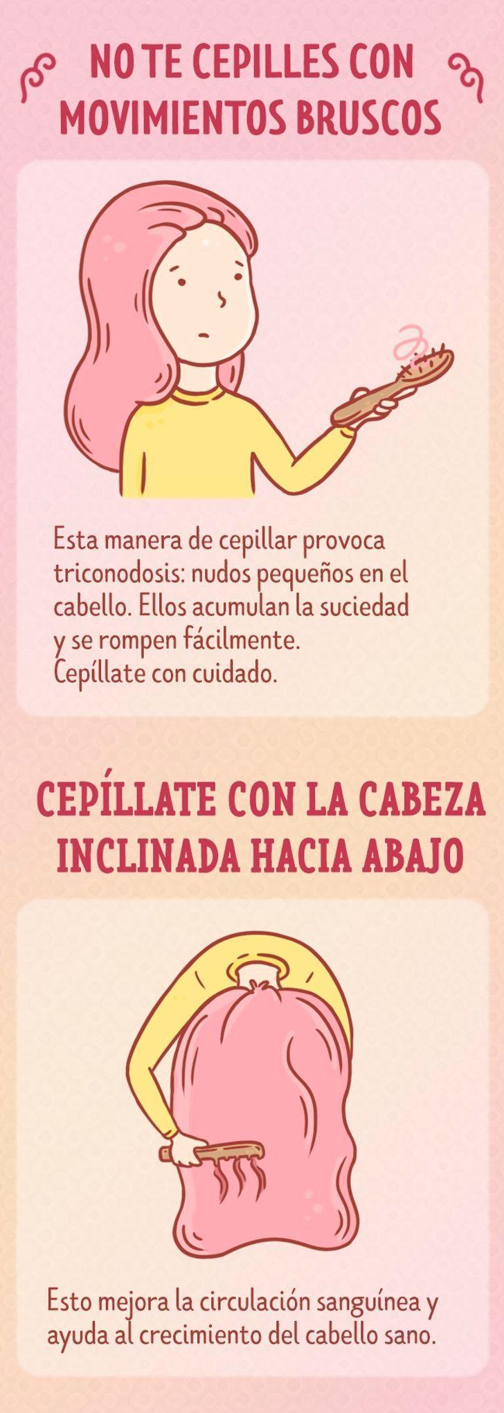 Cómo Cepillar El Cabello Correctamente Cepillado De Cabello Consejos Para El Cabello Crecimiento Del Cabello Sano