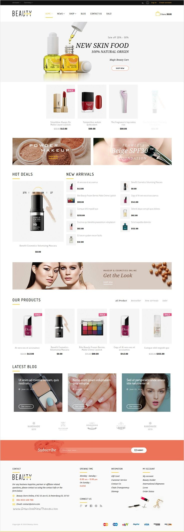 Beauty is an beautifully design advance #Shopify theme for best #cosmetic #shop online eCommerce website with 5 different homepage layouts download now➩ https://themeforest.net/item/beauty-shopify-theme/17377058?ref=Datasata