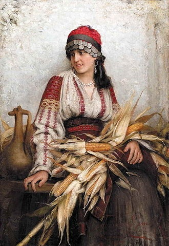 Franciszek Ejsmond - Romanian Maiden, 1885:
