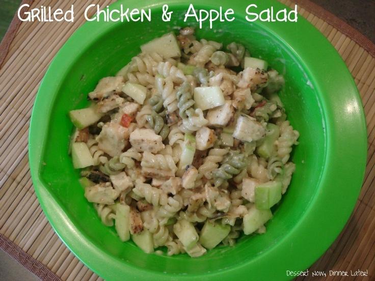 Grilled Chicken & Apple Salad | Dessert Now, Dinner Later!: Collection Recipe, Chicken Recipe, Quick Recipe, Pasta Salad, Apple Salad, Apples Salad, Grilled Chicken, Salad Dazed, Food Salad