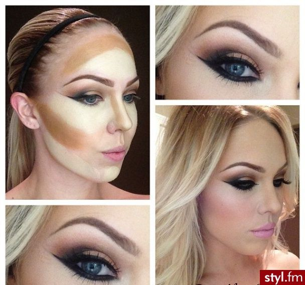 Never knew thats how much make up some girls wear, u can barely tell once its blended in, i jus wear eye liner and maybe mascara or eye shadow once ina while!