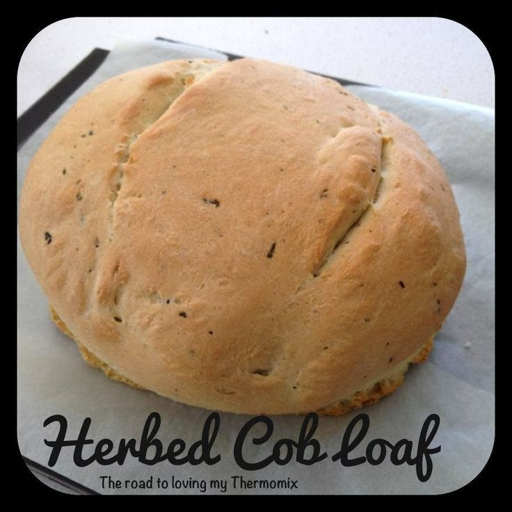 It's so easy to make your own cob loaf. I use my go to basic dough recipe for these but flavour mine with herbs - parsley, rosemary and basil. Add these in wit
