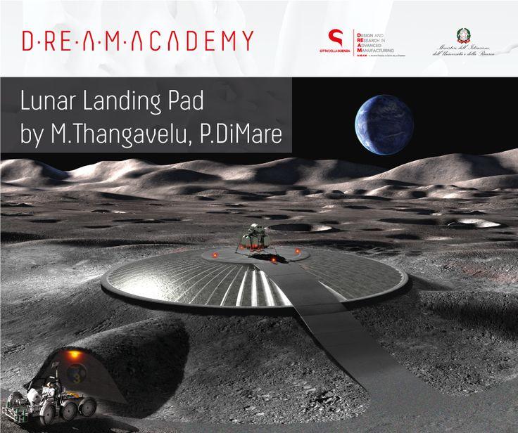 """Progetti - Madhu Thangavelu, docente della DREAM Academy Thangavelu fa parte del selezionato gruppo USC di architetti e ingegneri che studiano sistemi costruttivi robotizzati per la NASA allo scopo di costruire infrastrutture extraterrestri, comprese aree permanenti di atterraggio per insediamenti sulla Luna e su Marte. Attualmente si interessa anche di """"planetary defense"""" e turismo lunare."""